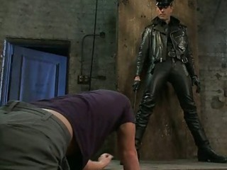 lascivious homo stud got bondaged by perverted cop