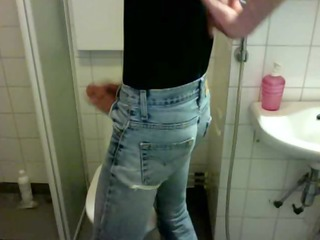 lad - urinate in jeans